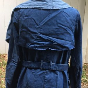 Stylish denim looking trench coat
